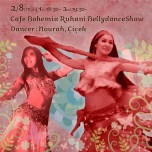 Cafe BOHEMIA Ruhani BellyDance Show 2/8(Mon)